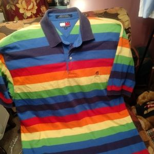 Tommy Hilfiger Shirt Mens L Multi Color VINTAGE